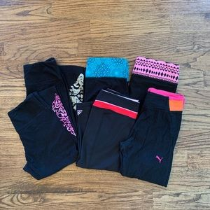6 capris bundled & priced to sell; various brands